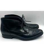Cole Haan Men's Black Leather Chukka Ankle Boots Lace Up Grand OS 11.5M - $52.98