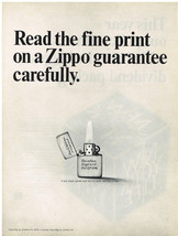 Vintage 1967 Magazine Ad For Zippo Lighters Read The Fine Print & New Yo... - $5.93