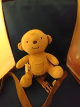 """Monkey Harness Carters Child Of Mine Plush Backpack 9"""" with Leash  - $7.50"""