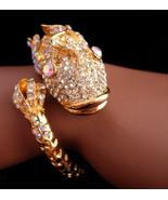 Vintage chinese koi fish bracelet - Brilliant aurora borealis rhinestone... - $195.00
