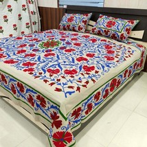 Suzani Embroidery Uzbekistan Bed cover, Handmade Bedspread with 2 Pillows - $117.80