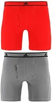 Men adidas Climalite Relaxed Cotton 2-Pack Boxer Brief Underwear - $21.84