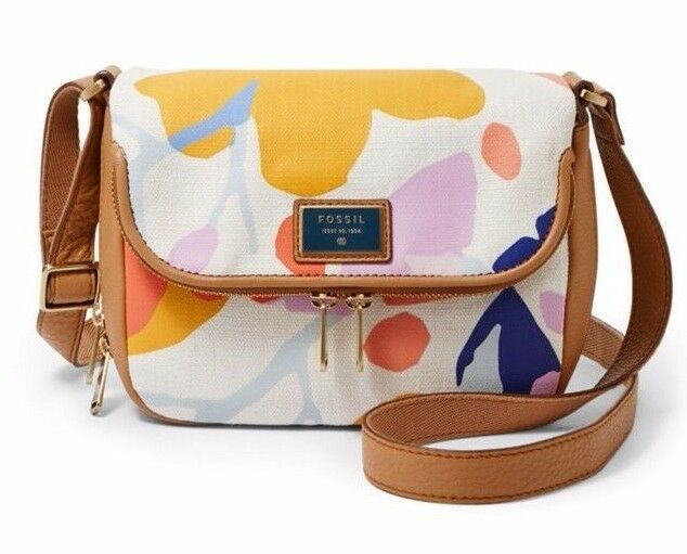 New Fossil Preston Women's Small Flap Leather Crossbody Bags Variety Color