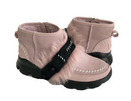 Ugg Fluff Punk Ankle Pink Crystal Shearling Sneakers Boot Us 8 / Eu 39 / Uk 6 - $139.32