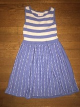 * the Childrens Place blue white striped knit sweater dress size small 5... - $10.79