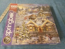 Springbok's 1000 Piece Jigsaw Puzzle Christmas Village - $14.25