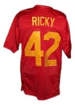 Ricky #42 Boyz N The Hood Movie New Men Football Jersey Red Any Size image 4