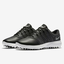 Nike Lunar Empress 2 Black Metallic Silver White 819040 001 Womens Golf Shoes image 1