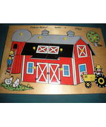 Vintage Fisher Price Pick Up 'N Peek #501 Barn Puzzle VG++-EXC (B) - $24.99