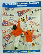 1978 Houston Astros - Baseball Program & Scorecard vs. San Diego Padres - $12.79