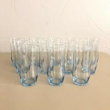 12 - Vintage Libbey Misty Blue Glasses Entertainment set 17 oz Coolers W... - $62.36