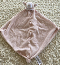 Angel Dear Girls Light Pink White Lamb Fleece Lovey Security Blanket Toy... - $14.03