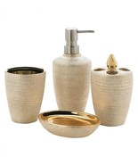 Bath Accessories Women, Golden Shimmer For Girls Bath Accessory Set, Por... - $26.99