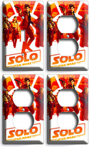 A STAR WARS HAN SOLO STORY CHEWBACCA 1 LIGHT SWITCH 3 OUTLET WALL PLATE ... - $35.09