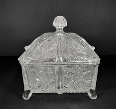 EAPG Paneled Thistle Footed Honey Dish Box With Lid Beautiful Condition!  - $46.71