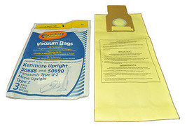 Kenmore Upright Type U 50688 and 50690 Vacuum Cleaner Bags - $3.71