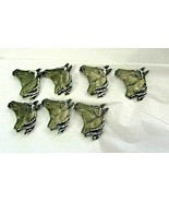 Vintage Horse Head Button Covers Silver Tone Lot Of 7 New  Wear or Craft - $14.84
