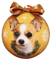 CHIHUAHUA TAN CHRISTMAS BALL ORNAMENT DOG HOLIDAY XMAS PET LOVERS GIFT - $9.95