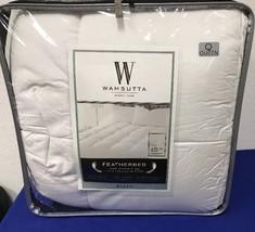 "Wamsutta Featherbed 1.5"" QUEEN Duck Feather Mattress Topper White NEW (T6) - $46.99"
