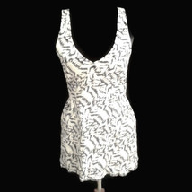 Silence + Noise M top by Anthropologie Black Cream Racerback hi low shirt - $22.00