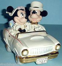 Lenox Disney Minnie's Dream Honeymoon With Mickey Mouse in Car Collectib... - £134.19 GBP