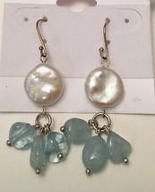 Sterling Silver Fresh Water White Light Dark Pink Pearl Pierced Earrings... - $10.95