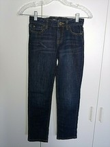GAP GIRLS JEANS W/ADJUSTABLE WAIST-10-GENTLY WORN-SKINNY BOYFRIEND FIT-NICE - $4.99