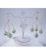 By Boe 14k Gold Fill Chandelier Wire Aqua Bead Earrings - $51.68
