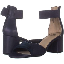 White Mountain Evie Criss Crossed Ankle Strap Sandals 760, Navy, 8.5 US - $23.03