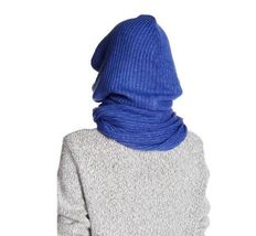 Free People Women's Bottom Line Hooded Rib Cowl Neck Wrap, Taupe NWT image 4