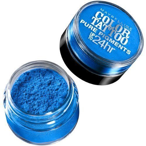 MAYBELLINE -  #10 BRASH BLUE - COLOR TATTOO PURE PIGMENTS EYE SHADOW