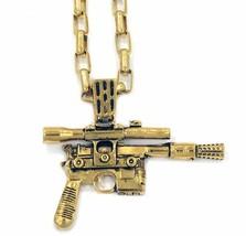 "Star Wars Force Awakens Han Cholo HCSW02 HC Blaster Gold Pendant 30"" Necklace,"