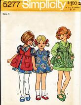 Vintage 1972 Child's DRESS & SMOCK Pattern 5277-s Size 3 - UNCUT/No Envelope - $10.00