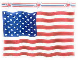 American Flag Patriotic Vinyl Window Clings (Flag & Stars) - $12.25