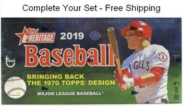 2019 Topps Heritage Baseball Singles 1-200 Complete Your Set - Free Ship... - $1.28+