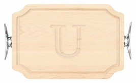 BigWood Boards 310-SCLT-U Cutting Board with Boat Cleat Cast Aluminum Ha... - $32.83