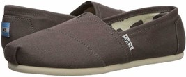 Toms Women's The Venice Collection Classic Ash Grey Canvas Slip On Flats Shoes