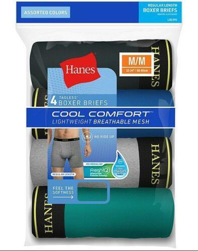 4-Pack Hanes Men's Cool Comfort Breathable Mesh Boxer Briefs - Assorted -S-xL