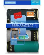 4-Pack Hanes Men's Cool Comfort Breathable Mesh Boxer Briefs - Assorted ... - $24.69