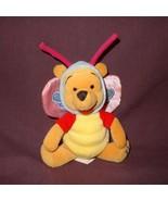 "Butterfly Winnie Pooh Easter 2000 Disney 8"" Plush Stuffed Animal Bear Be... - $12.78"