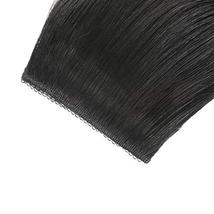 """16"""" Clip in Human Hair Extensions Full Head 130g 7 Pieces 16 Clips 1# Jet Black  image 5"""