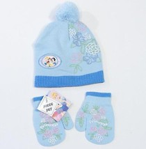 Disney Princess Knit Beanie & Mittens Set Toddler One Size 2T - 4T Blue ... - $11.13