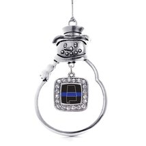 Inspired Silver Alabama Thin Blue Line Classic Snowman Holiday Ornament - $14.69