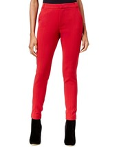Rachel Roy Womens Flat Front Seamed Skinny Trouser Pants 2 Ruby Red $99 - $18.39