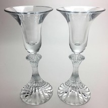 2 (Two) VINTAGE MIKASA THE RITZ Cut Crystal Single Candle Holders DISCON... - $12.34