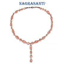 Nagrasanti SS Rose Quartz Beaded Y Necklace - €91,79 EUR