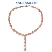Nagrasanti SS Rose Quartz Beaded Y Necklace - $99.00