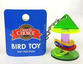 Great Choice Bird Hanging Swinging Multi-color Movable Rings Bird Toy NEW - £6.53 GBP