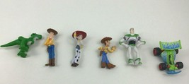 """Toy Story 6pc Lot Small 2"""" Figure Topper Buzz Woody RC Jessie Toys Disne... - $12.42"""