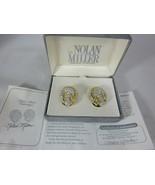 Nolan Miller Love Knot Earrings Gold-Tone Glamour Clip On - $35.63